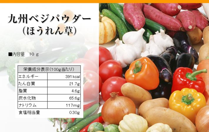 九州ベジパウダーほうれん草栄養成分