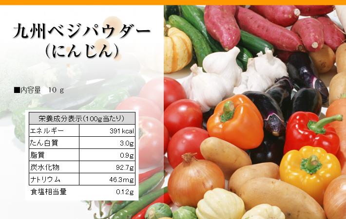 九州ベジパウダーにんじん栄養成分